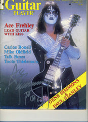 "2013 ACE FREHLEY PERSONALLY AUTOGRAPHED 1979 ""GUITAR PLAYER"" MAGAZINE! COMPLETE! NrMINT!"