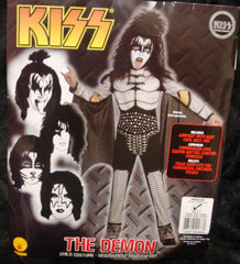 "2011 OOP Rubie's ""GENE SIMMONS"" Screen Printed Child 'M' Costume! COMPLETE! MINT!"