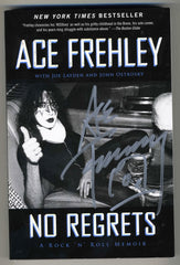 "2013 ACE FREHLEY PERSONALLY AUTOGRAPHED 2011 ""NO REGRETS"" AUTOBIOGRAPHICAL BOOK! COMPLETE! MINT!"
