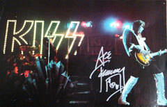 "2013 ACE FREHLEY PERSONALLY AUTOGRAPHED 1976 ""DESTROYER TOURBOOK PAGE""! AWESOME SHOT! FRAMABLE! NrMINT!"