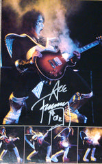 "2013 ACE FREHLEY PERSONALLY AUTOGRAPHED 1976 ""DESTROYER TOURBOOK PAGE""! Ver. # 2! AWESOME SHOT! FRAMABLE! NrMINT!"