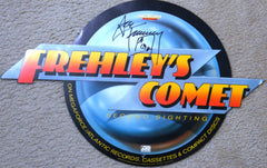 "2013 ORIGINAL OFFICIAL 1987 MEGAFORCE RECORDS ""PERSONALLY AUTOGRAPHED BY ACE FREHLEY ""FREHLEY'S COMET"" PROMOTIONAL-ONLY IN STORE CARDBOARD DIE-CUT LARGE DISPLAY No. 1! NrMINT!"