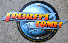 "2013 ORIGINAL OFFICIAL 1987 MEGAFORCE RECORDS ""PERSONALLY AUTOGRAPHED BY ACE FREHLEY ""FREHLEY'S COMET"" PROMOTIONAL-ONLY IN STORE CARDBOARD DIE-CUT LARGE DISPLAY No. 2! NrMINT!"