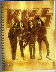 "2010 KISS CATALOG, LTD. Official Live Nation Merchandise (New - Unused) ""KISS GLOSSY DRESSED TO KILL 3-HOLE SCHOOL NOTEBOOK Ver. 1!"" MINT!"