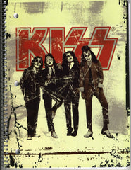 "2010 KISS CATALOG, LTD. Official Live Nation Merchandise (New - Unused) ""KISS GLOSSY DRESSED TO KILL 3-HOLE SCHOOL NOTEBOOK Ver. 2!"" MINT!"