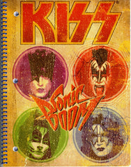 "2010 KISS CATALOG, LTD. Official Live Nation Merchandise (New - Unused) ""KISS GLOSSY PSYCHO CIRCUS 3-HOLE SCHOOL NOTEBOOK!"" MINT!"