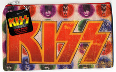 "2010 KISS CATALOG, LTD. Official Live Nation Merchandise (New - Unused) ""KISS FABRIC PSYCHO CIRCUS ZIPPERED SCHOOL PENCIL POUCH Ver. 2!"" MINT!"