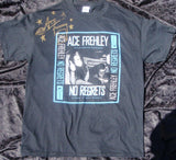 "2013 ORIGINAL OFFICIAL U.S. 'ACE FREHLEY' PERSONALLY AUTOGRAPHED ""NO REGRETS 2013 PROMOTIONAL-ONLY T-SHIRT"" MINT!"