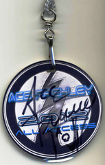 "2012 ORIGINAL OFFICIAL U.S. 'ACE FREHLEY' PERSONALLY AUTOGRAPHED ""ANOMOLY TOUR 2012 ALL ACCESS LAMINATE PASS"" MINT!"