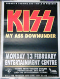 "1995 RARE AUSTRALIAN IMPORT OFFICIAL ORIGINAL ""SYDNEY, AUSTRALIA 'KISS MY ASS' TOUR PLAYBILL POSTER""! EX+++"