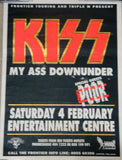 "1995 RARE AUSTRALIAN IMPORT OFFICIAL ORIGINAL ""PERTH, AUSTRALIA 'KISS MY ASS' TOUR PLAYBILL POSTER""! EX+++"