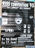 "1995 RARE GERMAN IMPORT OFFICIAL ORIGINAL ""OBERHAUSEN, GERMANY 'KISS CONVENTION' EUROPEAN TOUR W/ACE PLAYBILL POSTER""! EX"