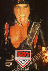 "1985 U.K. Import Original ""KISS Army Gene Simmons"" Postcard! (Unused) MINT!"