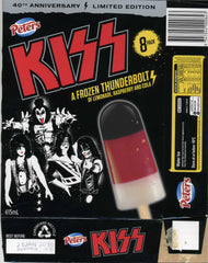 "2013 Ver. 1 AUSTRALIAN IMPORT ORIGINAL OFFICIAL ""KISS 40th ANNIVERSARY FROZEN THUNDERBOLT ICE CREAM BAR"" BOX! COMPLETE WITH AUSSIE 'MONSTER' CONCERT DATES! MINT!"