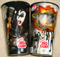 "2010 August THE KISS CATALOG, LTD. U.S. OFFICIAL ORIGINAL ""7-11 KISS BIG GULP CUP/GENE SIMMONS""! UNUSED! MINT!"
