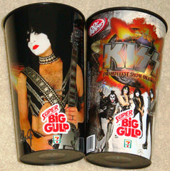 "2010 August THE KISS CATALOG, LTD. U.S. OFFICIAL ORIGINAL ""7-11 KISS BIG GULP CUP/PAUL STANLEY""! UNUSED! MINT!"