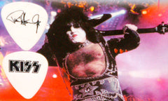 "2000 KISS WHITE W/BLACK ""PAUL STANLEY FAREWELL TOUR"" GUITAR PICK MINT"