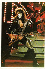 "1985 VERY RARE HTF ORIGINAL U.K. IMPORT 'KISS 4.5"" x 6.5 LIVE GLOSSY COLOR PHOTOCARD No.2""! MINT!"