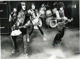 "1982 VINTAGE SHOT ""KISS LIVE ON DUTCH TV"" B/W GLOSSY PHOTO 7"" x 9.5"" MINT!"
