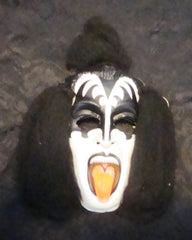 "1978 Collegeville AUCOIN ""GENE SIMMONS COSTUME MASK WITH HAIR"" COMPLETE! EX+++!"
