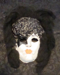 "1978 Collegeville AUCOIN ""PAUL STANLEY COSTUME MASK WITH HAIR"" COMPLETE! EX+++!"