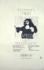 1974 ORIGINAL KISS 'HOTTER THAN HELL' U.S. TOUR COLLEGE VENUE POSTER NOT A COPY! NrMINT!
