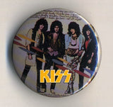 1986 KISS 'ASYLUM' OFFICIAL TOUR BUTTON No. 1! MINT!