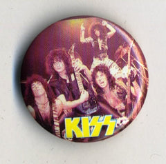 1984 KISS 'ANIMALIZE' OFFICIAL TOUR BUTTON No 9! MINT!