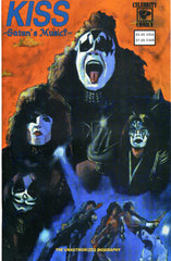"1992 HTF U.S. ORIGINAL CELEBRITY COMICS ""KISS SATAN'S MUSIC"" THE UNAUTHORIZED BIOGRAPHY"" COMIC! MINT!"