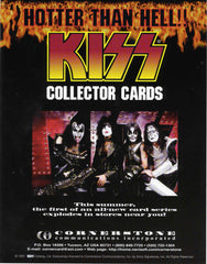"1997 KISS CATALOG, LTD. U.S. OFFICIAL CORNERSTONE COMM. INC. ORIGINAL 'KISS COLLECTOR CARDS"" FULL COLOR 1-SIDED PROMOTIONAL-ONLY ADVERT"" COMPLETE! MINT!"