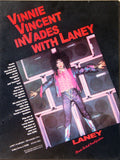 "1986 VINNIE VINCENT ""LANEY AMPS"" PROMOTIONAL-ONLY POSTER! NrMINT!"