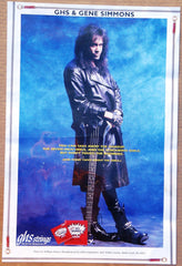 "1992 U.S. MEGA-RARE ORIGINAL OFFICIAL KISS COMPANY, INC. ""GENE SIMMONS GHS STRINGS"" Promotional-Only Poster! NrMINT!"