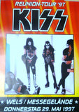 "1997 Original German Import (ILLEGAL & NOT USED)""1997 KISS REUNION ALIVE WORLDWIDE POSTER FOR WELS/MESSEGELANDE, AUSTRIA MAY 29,1997 CONCERT! UNBELIEVABLE! MINT!"