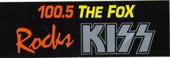 "1996 (Unused) Louisville, KY. FM Radio Station Promotional-Only Bumper Sticker for the Reunion Alive Worldwide Concert ""105.5 THE FOX ROCKS KISS""! MINT!"