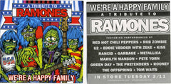 "2003 Columbia Records, Inc. ""A TRIBUTE TO THE RAMONES WE'RE A HAPPY FAMILY"" Promotional-Only Sticker! MINT!"