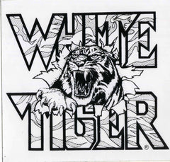 "1986 Original Official ""WHITE TIGER"" Logo Bumper Sticker! MINT!"