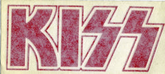 "1995 Red ""KISS LOGO"" Inside Window Sticker! MINT!"