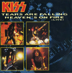 "1985 RARE DUTCH IMPORT PHONOGRAM ""TEARS ARE FALLING""/""HEAVEN'S ON FIRE (LIVE)"" 7"" PICTURE SLEEVE SINGLE! EX+++!"