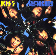 "1987 RARE U.S. MERCURY ""CRAZY CRAZY NIGHTS""/""NO NO NO"" 7"" PICTURE SLEEVE SINGLE! NrMINT!"