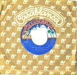 "1975 RARE U.S. BLUE LABEL ""ROCK AND ROLL ALL NITE""/""GETAWAY"" 7"" CAMEL SLEEVE SINGLE! NrMINT!"