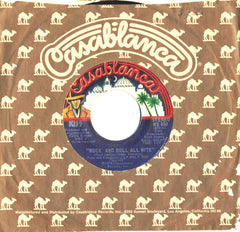 "1975 RARE U.S. BLUE LABEL ""ROCK AND ROLL ALL NITE(LIVE)""/""ROCK AND ROLL ALL NITE (STUDIO)"" 7"" CAMEL SLEEVE SINGLE! NrMINT!"