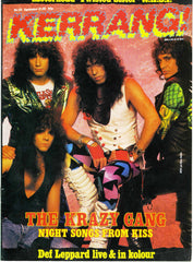 "1987 U.K. IMPORT ORIGINAL 'KERRANG!"" No. 155 MAGAZINE! MrMINT!"