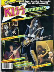 "1989 Sept. U.S.ORIGINAL 'KISS GUITARISTS"" MAGAZINE! 100% KISS W/PULL-OUT POSTERS! MINT!"