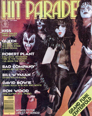 "1976 July U.S.ORIGINAL 'HIT PARADER"" MAGAZINE W/BIG KISS STORY! EX+++!"