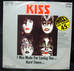 "1979 RARE GERMAN IMPORT PHONOGRAM LABEL ""I WAS MADE FOR LOVING YOU"" 2-TRACK 12"" SINGLE! NrMINT!"