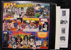 "1980 RARE U.S. CASABLANCA LABEL ""UNMASKED"" LP! COMPLETE with ALL INSERTS & POSTER! NrMINT!"