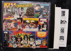 "1980 RARE U.S. CASABLANCA LABEL (ORIGINAL SHRINKWRAP) ""UNMASKED"" LP! COMPLETE with ALL INSERTS & POSTER! NrMINT!"