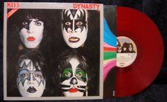 "1979 RARE GERMAN IMPORT BELLAPHON LABEL ""DYNASTY"" RED VINYL LP! NO POSTER! NrMINT!"