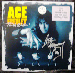 "2013 ACE FREHLEY PERSONALLY AUTOGRAPHED 1989 MEGAFORCE RECORDS ""TROUBLE WALKIN' "" PROMOTIONAL-ONLY LP! AWESOME PIECE! VERY FRAMABLE! MINT!"