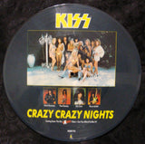 "1987 Original U.K. IMPORT Official ""CRAZY CRAZY NIGHTS"" 4-Track (2-Sided) Picture Disc! MINT!"